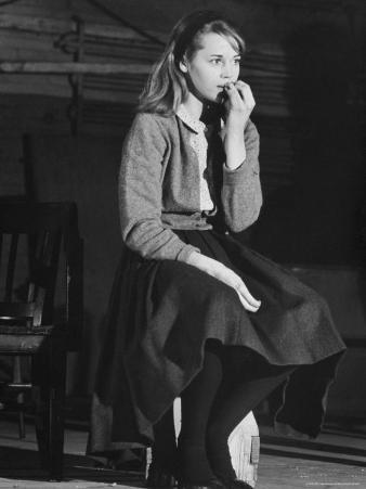 """Actress Jane Fonda, 22, During Rehearsal for the Broadway Play """"There Was a Little Girl"""""""
