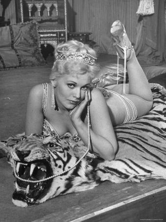 """Actress Kim Novak in Title Role Performing Hoochie-Coochie Dance in the Movie """"Jeanne Eagels"""""""