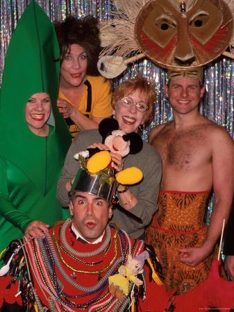 "Carol Burnett with Cast of Off Broadway Revue ""Forbidden Broadway"" Including Actor Bryan Batt"