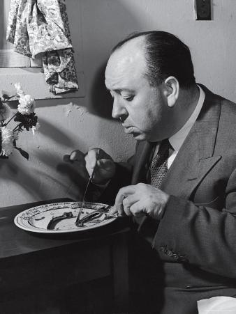 Alfred Hitchcock Eating Lamb Chops