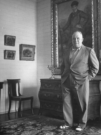 French Director Jean Renoir, Son of Impressionist Painter Pierre Auguste