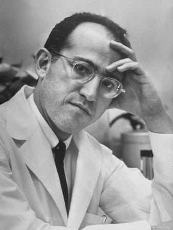 Dr. Jonas Salk, Inventor of the New Polio Vaccine, in Serious Portrait