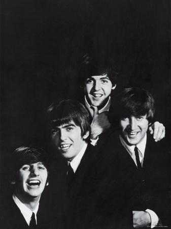 Ringo Starr, George Harrison, Paul McCartney and John Lennon of the English Rock Group the Beatles