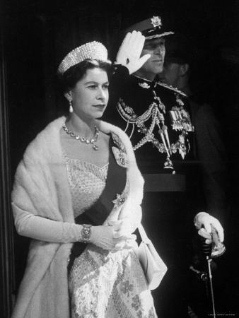 Queen Elizabeth and Prince Philip, at the Opening of the Canadian Parliament