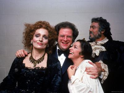 """Conductor James Levine with Singers from Met Opera's Production of Mozart's """"Idomeneo"""""""