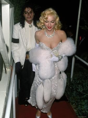 Pop Stars Michael Jackson and Madonna Attending Event