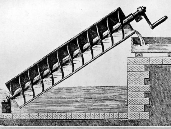 How did people pump water in ancient times?  |Ancient Archimedes Screw