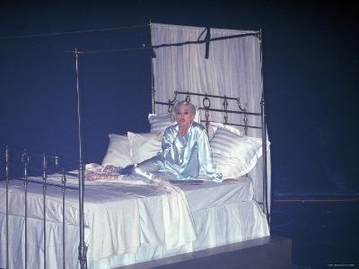 Madonna Onstage in a Bed and Silk Pajamas During Her Pajama Party Tour