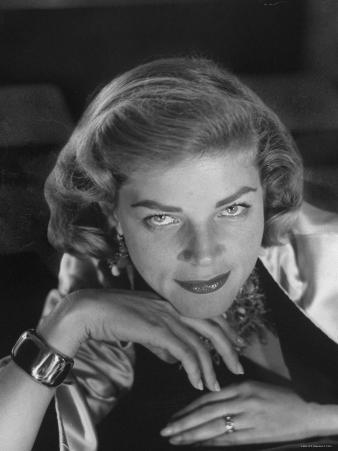 Portrait of Actress Lauren Bacall, Hollywood, Ca