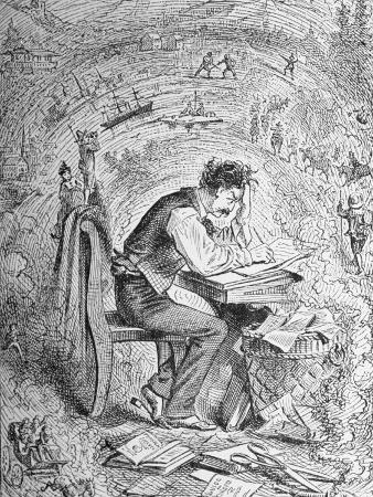 Illustration of Author Samuel Clemens from a Tramp Abroad, Also Known as Innocents Abroad