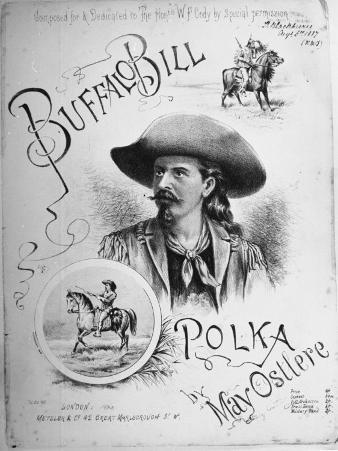 "Sheet Music to ""Buffalo Bill Polka"" Composed, Dedicated to William Frederick Cody American Scout"