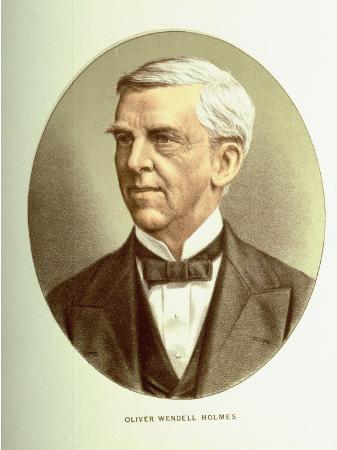 Color Illustration of Author and Jurist Oliver Wendell Holmes, Jr