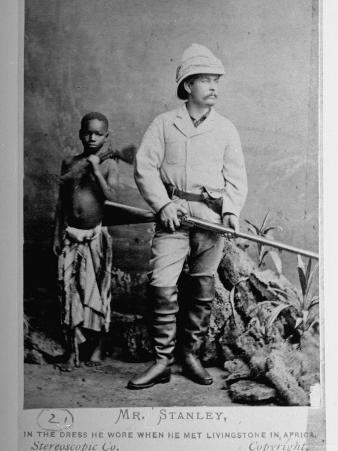 British Explorer Henry M. Stanley Wearing Same Clothing He Wore When He Met Livingstone in Africa