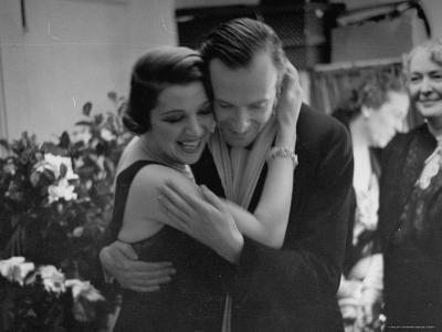 Ina Claire Hugging Cecil Beaton at the Opening of Once is Enough