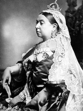 Queen Victoria Wearing the Small Imperial Crown to Mark Her 66th Birthday