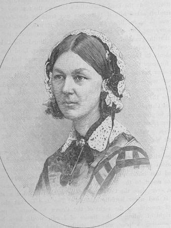 Clipping from Periodical of Nurse Florence Nightingale, Founder of Modern Nursing