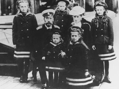 Family Portrait of Russian Tsar Nicholas Ii and Tsarina Alexandra with Their Children