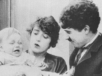 """Charlie Chaplin with Mabel Normand in """"His Trysting Place."""""""