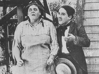 """Charlie Chaplin with Marie Dressler in Film """"Getting Acquainted."""""""
