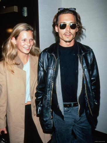 Kate Moss And Johnny Depp Premium Photographic Print At Allposterscom