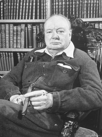 393a58edf42a Winston Churchill Holding Cigar