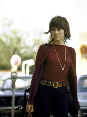 Jane Fonda Carrying a Louis Vuitton Bag as She Walks Through the Street