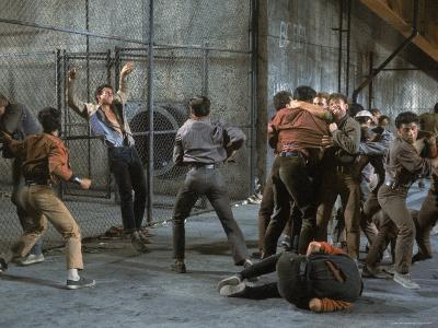Jets and Sharks Fight, Scene from West Side Story