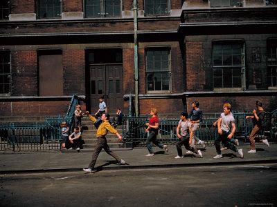 Strutting Sidewalk Dance, Scene from West Side Story