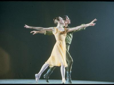 Allegra Kent and John Prinz from New York City Ballet Production of Dances at a Gathering