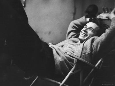 Brilliant Young Canadian Pianist Glenn Gould Laughing at a Columbia Recording Studio
