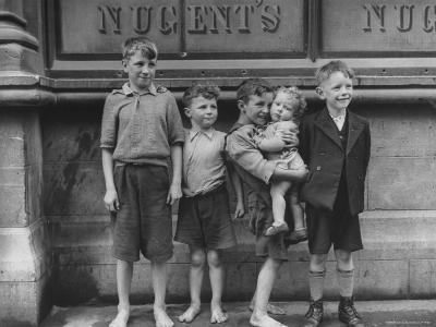 All Future Patrons, Standing Outside Original Nugent Pub Down Street from Dolphin Hotel