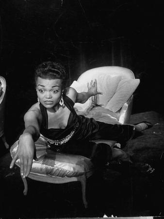Eartha Kitt, Sitting on Chaise in Scene from New Faces