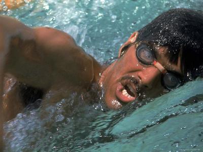US Swimmer Mark Spitz Training for 1972 Munich Olympics