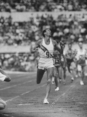 Australian Herb Elliot, Winning Men's 1500 Meter Race, at Olympics