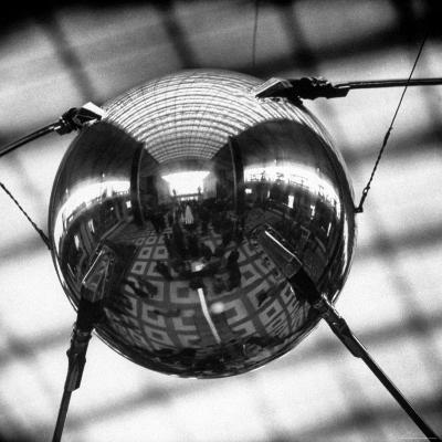 Model of Russian Satellite Sputnik I on Display at the Soviet Pavilion During the 1958 World's Fair