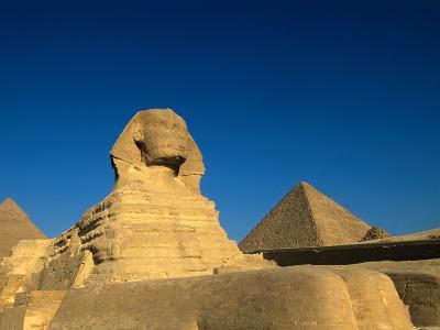 The Sphinx, Pyramids at Giza, Egypt