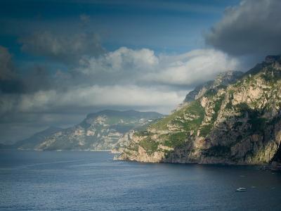 Morning View of the Amalfi Coast, Positano, Campania, Italy