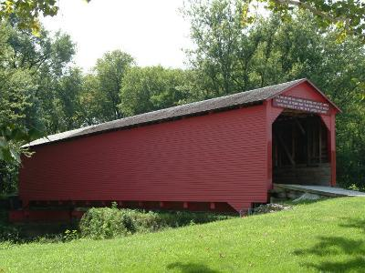 Allaman Covered Bridge in Henderson County, north of Nauvoo, Illinois, USA