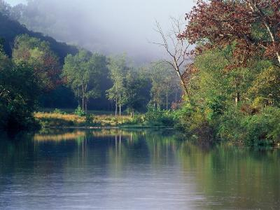 Morning Fog on River, Missouri, USA
