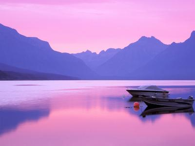 Lake McDonald at Dawn, Glacier National Park, Montana, USA