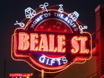 Neon Signs, Beale Street Entertainment Area, Memphis, Tennessee, USA