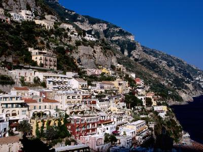 Houses Terraced into Amalfi Coastline, Positano, Italy