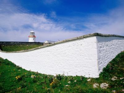 St. John's Point Lighthouse and Whitewashed Wall, Killybegs, Ireland