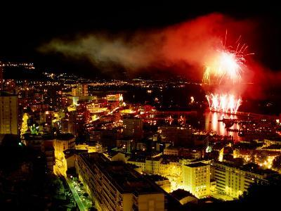 Fireworks Over Monte Carlo, Port Hercule During Summer Celebrations, Monte Carlo, Monaco