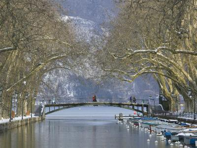 Lake Annecy and Boats on Canal Du Vasse