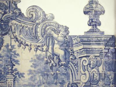 Decorative Tiles in the Cloister of Sao Vincente da Fora, Lisbon, Portugal