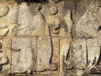 Stone Decorations, Chichen Itza Ruins, Maya Civilization, Yucatan, Mexico