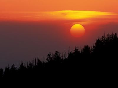 Sunset from Clingmans Dome, Great Smoky Mountains National Park, Tennessee, USA