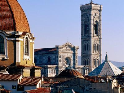 The Campanile Seen Over Rooftops, Florence, Italy