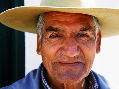 Portrait of Old Guacho (Cowboy), Cachi, Argentina